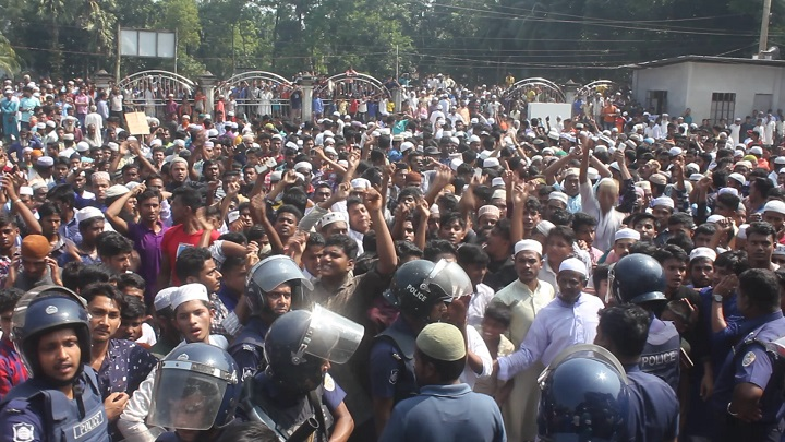 Case filed accusing 5,000  unidentified people in Bhola clash