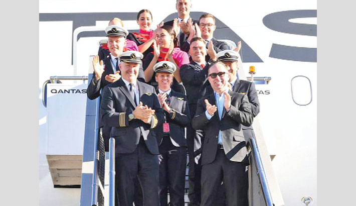 Longest non-stop passenger flight arrives in Sydney