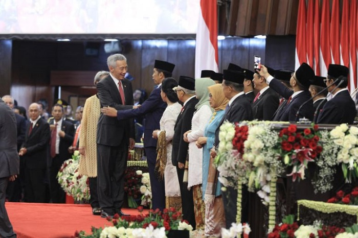 Leaders from 17 countries attend Indonesian President Joko Widodo's inauguration