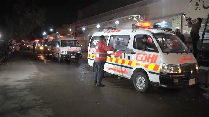 9 killed in ambulance-trailer collision in Pakistan's Punjab
