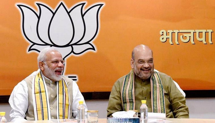 Indian PM Modi greets Home Minister Amit Shah on his 55th birthday