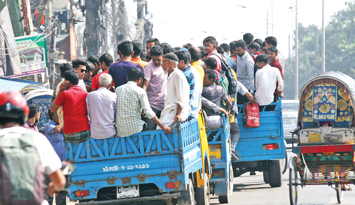 Sudden bus strike causes sufferings to commuters