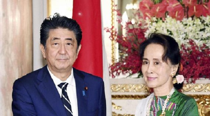 Japan PM Abe urges Suu Kyi to ensure safe return of Rohingyas