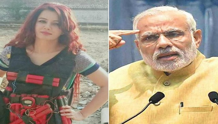 Pakistani singer Rabi Pirzada threatens Modi with suicide attack