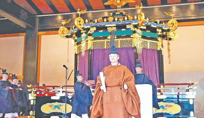 Japan's emperor completes enthronement