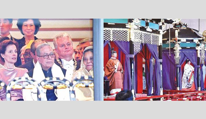 President  attends Japan's Emperor's enthronement ceremony