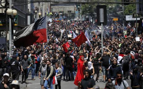 Chile president announces social measures to stem street violence