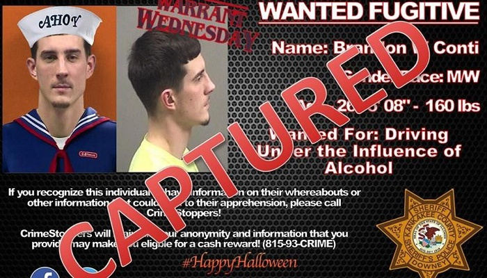 Fugitive asks cops to add costume to his pic, they oblige