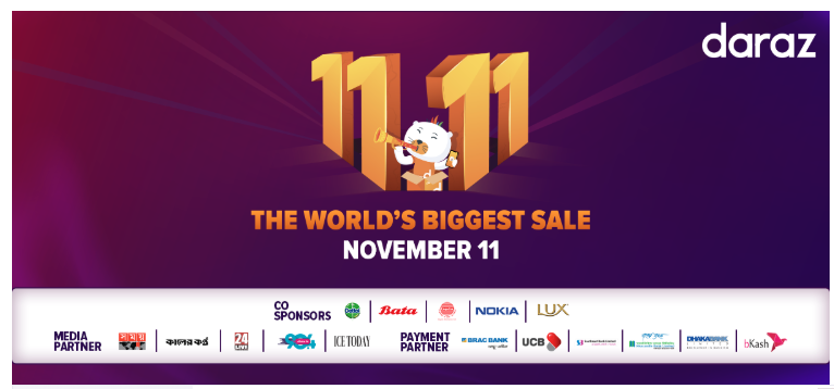 Daraz Bangladesh to celebrate 11.11 Sale with best local brands