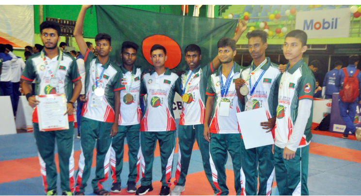 S Asian Karate Championship: Bangladesh men's junior team win gold