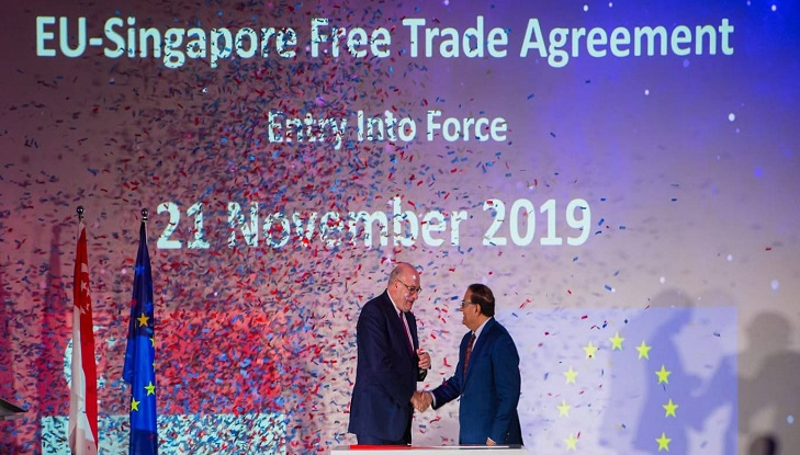 EU-Singapore trade deal takes effect November 21