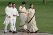 Top-level security cover for Congress party leaders Sonia Gandhi, Rahul and Priyanka removed