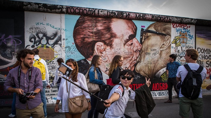 Berlin Wall  turned into a massive art gallery