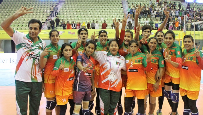 Bangamata Int'l Volleyball:Bangladesh makes flying start beating Afghanistan 3-0