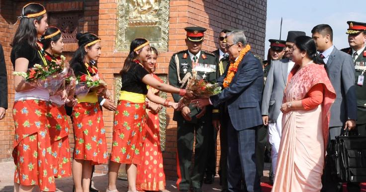 President arrives in Kathmandu on a 4-day visit