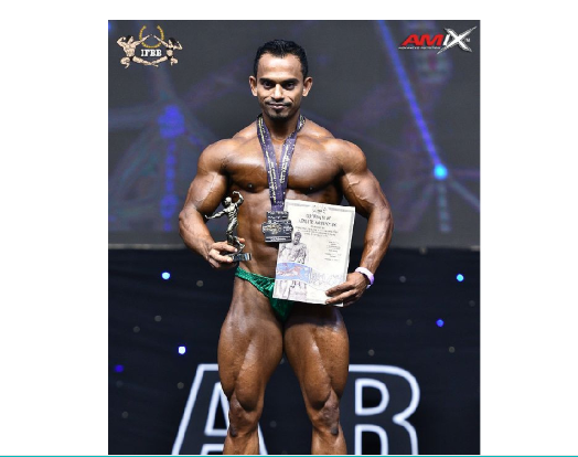 Robin clinches silver medal in World Bodybuilding Champs