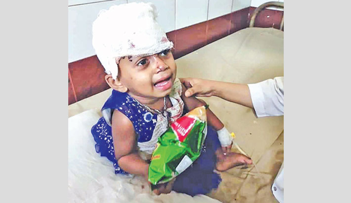 Little girl survives, cries for missing parents