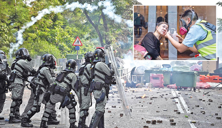 HK protests hit universities, business district