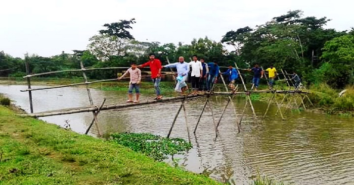 Where a rickety bamboo footbridge is the only hope