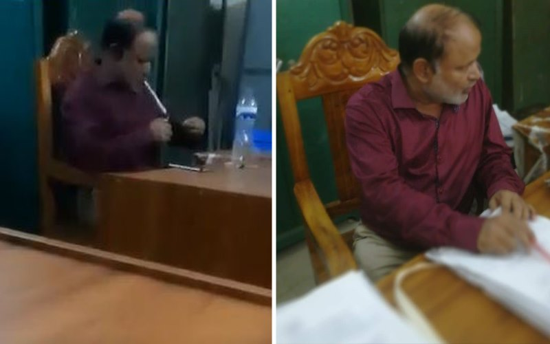 Video of government employee taking Yaba in office goes viral