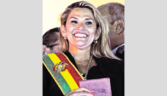 Bolivian senator becomes interim president
