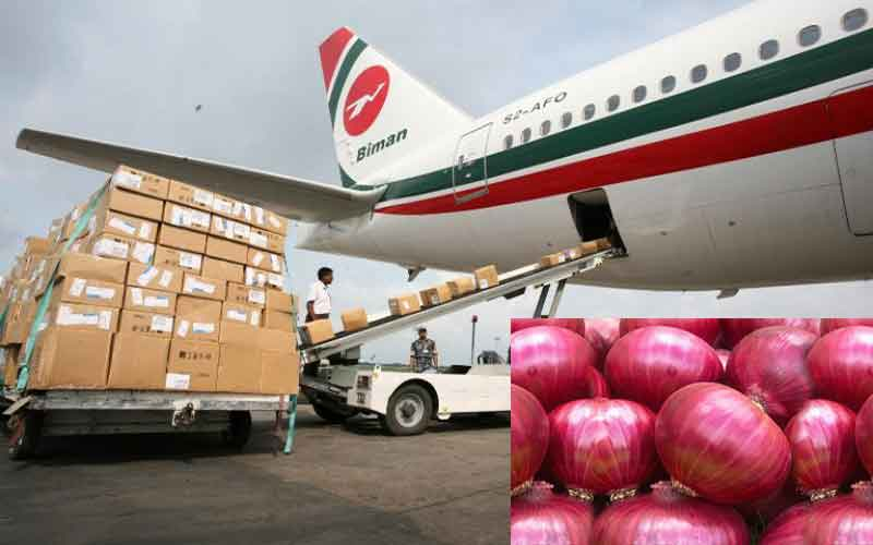Government to import onion by air cargo on emergency basis