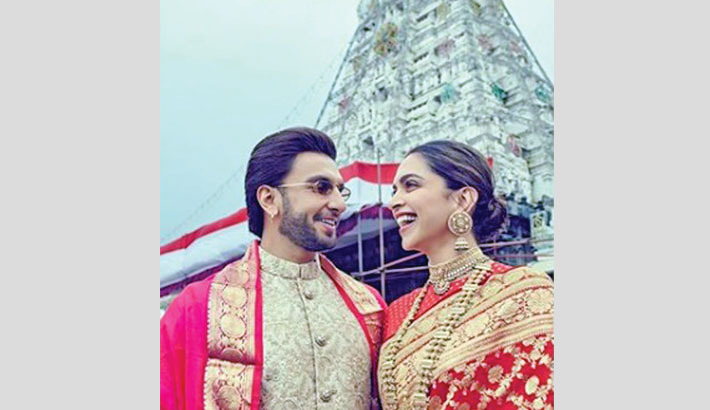 Deepika, Ranveer celebrate their 1st anniversary