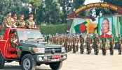 Regimental Colour handover ceremony