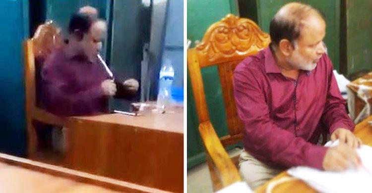 Taking Yaba in office: Mymensingh land office employee withdrawn