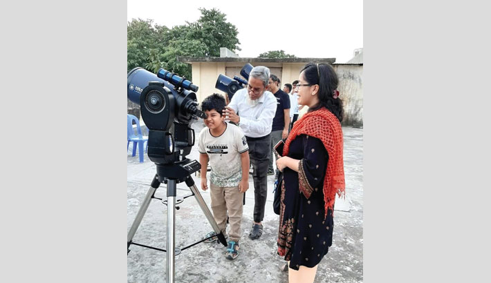 Sky observation event held at NMST