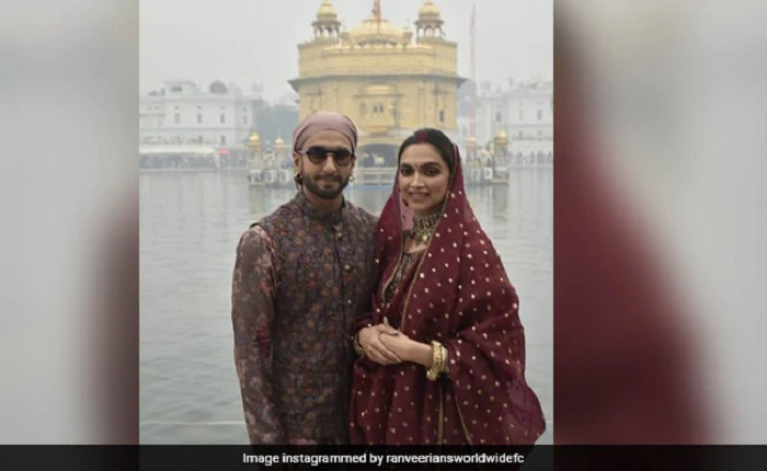 Ranveer-Deepika visit Golden Temple on wedding anniversary