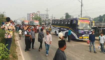 Bus strike now hits commuters hard in Gazipur