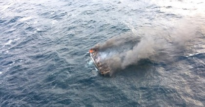 11 missing from South Korean fishing boat burned by fire