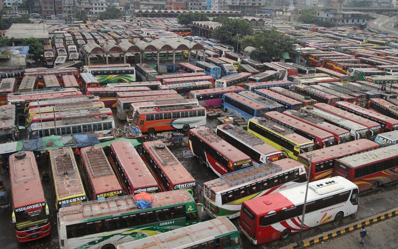Bus services from Sayedabad halted