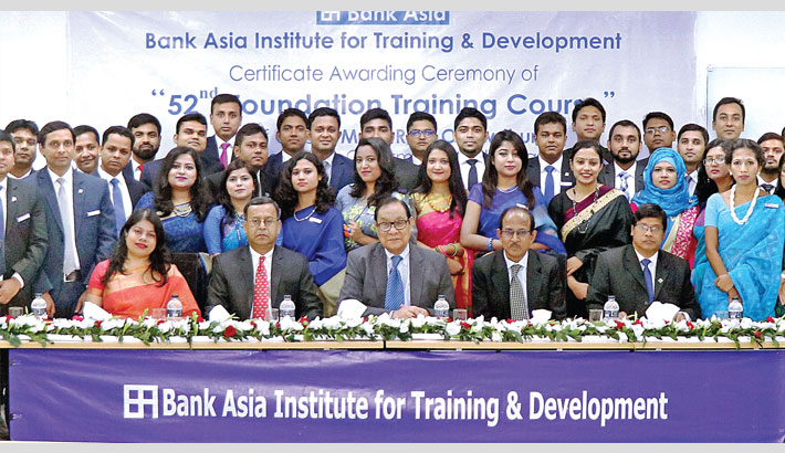 Foundation training of Bank Asia ends