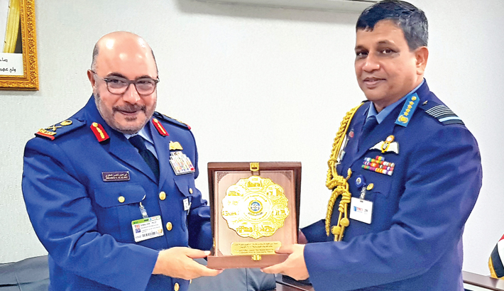 Air chief returns home from UAE