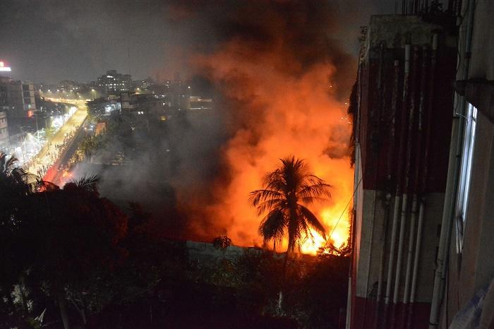 Fire at Rajdhani Super Market under control