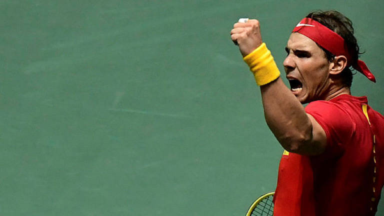 Nadal hails 'amazing atmosphere' as Spain beat Russia at Davis Cup