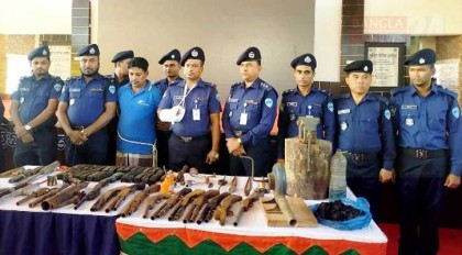 Police raid 'weapons factory' in Chattogram; arrest robber gang leader