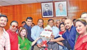 Newly elected executive committee members of Bangladesh Film Artistes