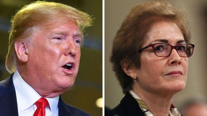 Trump says envoy Marie Yovanovitch refused to hang his photo
