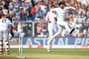 Bangladesh suffer batting collapse in first day-night Test