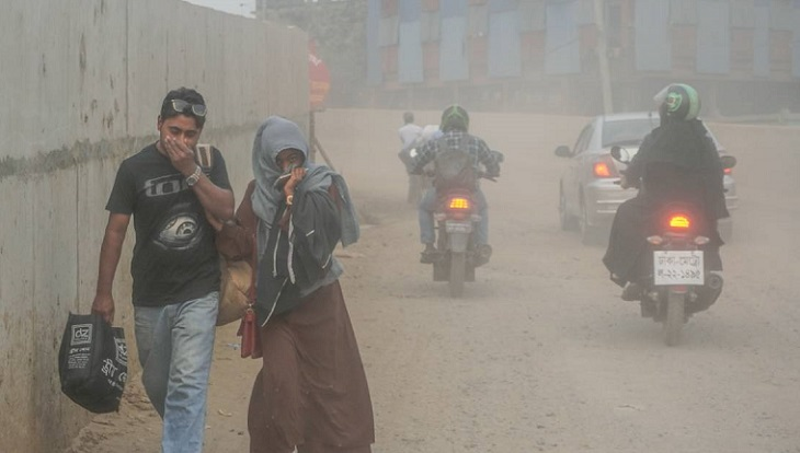 Dhaka grapples with worst dust pollution as winter sets in