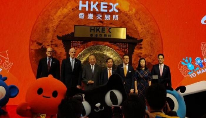 Alibaba shares jump in blockbuster Hong Kong debut