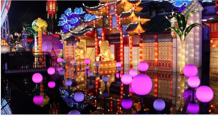 Chinese lantern festival presented in French Riviera