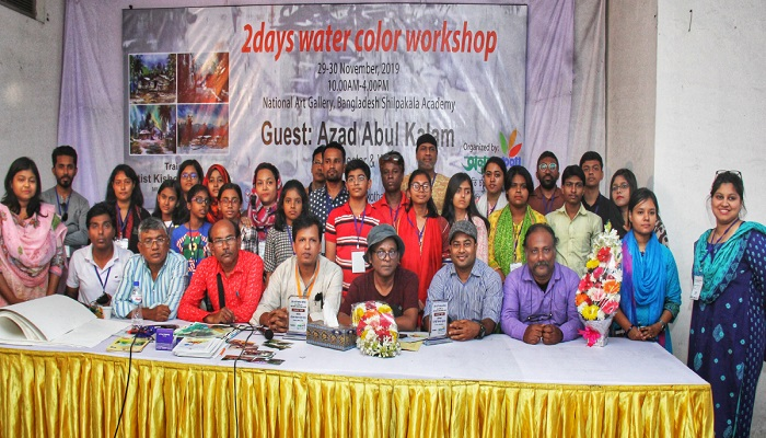 2-day painting workshop, exhibition end in city