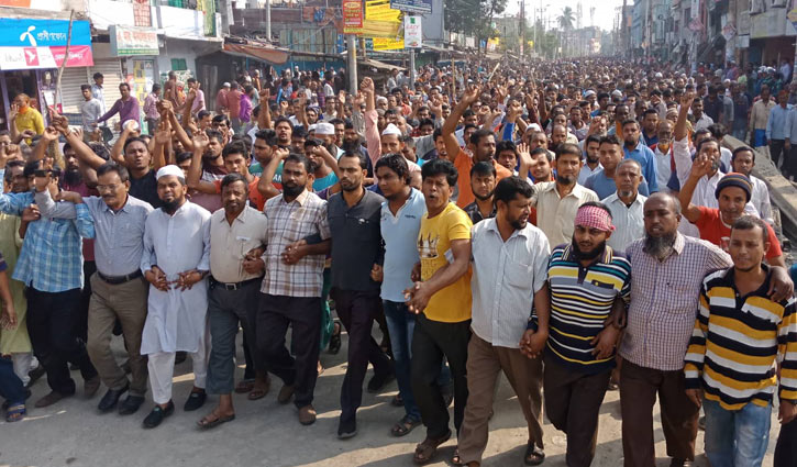 Khulna jute mill workers continue demo