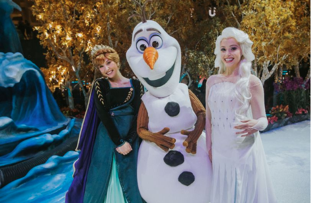 Airport transforms into Frozen 2 themed wonderland