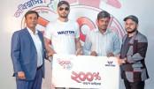 Walton customer gets  200pc cash voucher  from Mashrafe