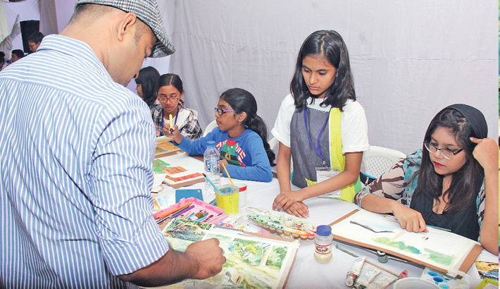 2-day watercolour painting workshop ends